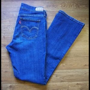 Levi's 515 Bootcut med wash jeans size 4M